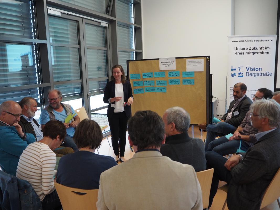 Kleingruppendiskussion im Bürgerforum